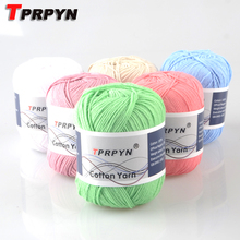 TPRPYN 500g=10pcs  Multi Color Cotton Knitting Yarn Crochet Yarn for Knitting Anti-Pilling 100% cotton yarn
