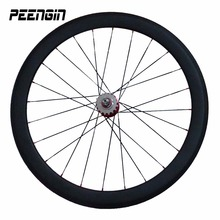 hot wheels tracks bike clincher toray T700 700C fixie 23X50C deep rims novatec/powerway taiwan hubs professional racer wheelsets