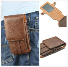 "5.5"" High Quality pu Leather TMobile Phone Waist Bag For Vernee Thor"