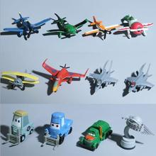 12pcs/set 4-6cm Disney Planes Racing aircraft model children's toys hand Office Desktop DecorationGirl doll toy Kids(China)