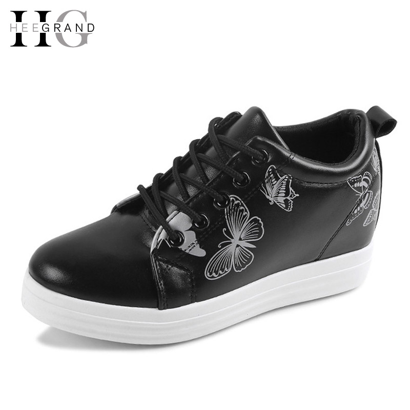 HEE GRAND Print Platform Women Ankle Boots Autumn Casual Shoes Woman Lace-Up Creepers Fashion Wedges Women Flats Shoes XWD4533<br><br>Aliexpress