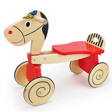 baby go-cart walkers pure wooden toys children carriage baby ride on car