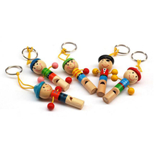 1pc Boy Pirate Whistle Wooden Whistling Whistle Toys Child Gift Musical Instrument High Quality wood Whistle Party s3(China)
