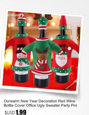 Ourwarm 18 DIY Felt Christmas Tree Pendant Drop Ornaments New Year Gift for Children Kids Door Wall Hanging Xmas Decoration 3