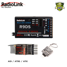 Radiolink 2.4G 6CH RadioLink R6DS R6DSM R9DS DSSS Receiver for AT9 AT9S AT10 Transmitter RC 2.4G receiver for RC MODEL AIRPLANE(China)