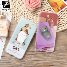 Squishy Phone Cases for Samsung Galaxy A5 2017 A520F A5200 Case Finger Pinch 3D Cute Soft Silicone Panda Cat Seal Kitty Cover