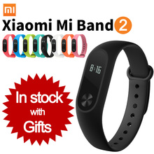 Original Xiaomi Mi Band 2 Wristband Bracelet with Smart Heart Rate Tracker OLED Display Touchpad Sport Fitness Bracelet