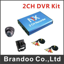 Mini Car 2CH SD DVR Video Recorder Surveillance CCTV