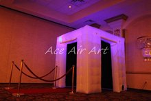 Best quality colourful inflatable led photo booth, led light portable cube inflatable photo booth for advertising event