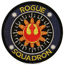 "3.5"" Star Wars Rogue Squadron Logo Uniform Logo Animated Movie TV Series Costume Embroidered Emblem applique iron on patch"