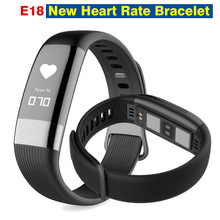E18 New Heart Rate Bracelet Bluetooth Smart Band Fitnees Tracker Blood Pressure Monitor Smartband ECG Wristband Waterproof Call