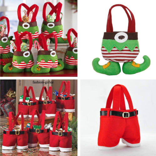 1Pc-Christmas-Party-Santa-Red-Pants-Elf-Candy-Gift-Bag-Sack-Stocking-Filler-Gift