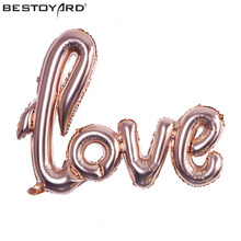 LOVE letters Foil Balloon Romantic Mylar Balloons for Valentin's Day Engagement Wedding Party Decoration(China)