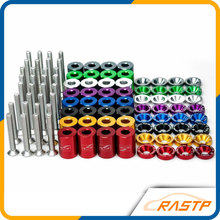 RASTP - Racing Parts Hood Spacer Kits Jdm Hood Risers Billet Aluminum Hood Risers Universal Purposal LS-HR005(China)