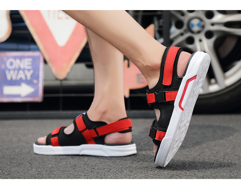 YRRFUOT Summer Big Size Fashion Men's Sandals Outdoor Hot Sale Trend Man Beach Shoes High Quality Non-slip Adult Flats Shoes 46 28 Online shopping Bangladesh
