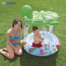 Tortoise shape inflatable bottom swimming pool circular awning water pool baby bath tub ocean ball pool(China)