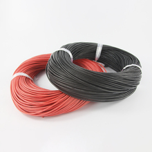 20m/lot 10 METER Red+ 10 METER Black 18AWG 20AWG 22AWG 24AWG 26AWG Heatproof Soft Silicone Wire Cable For RC Model Battery Part