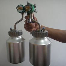 SAT1200 powder coating gun chrome mirror paint high pressure double nozzle sprayer(China)