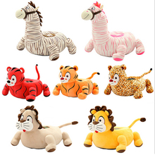Fancytrader Animal Kids Sofa Doll Soft Giant Cartoon Tiger Horse Plush  Sofa Chair Toy Nice Child Gift 45cm X 40cm