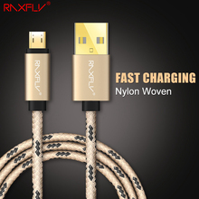 1m 2m Nylon Micro USB Cable For Samsung S6 S7 Edge Huawei LG Xiaomi Android Cable Mobile Phone Accessories Fast Charger Cables