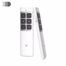 Doosl Rechargeable Wireless Laser Pointer Air Mouse Presenter, 2.4GHz PPT Remote Control Clicker for Multi Media Devices