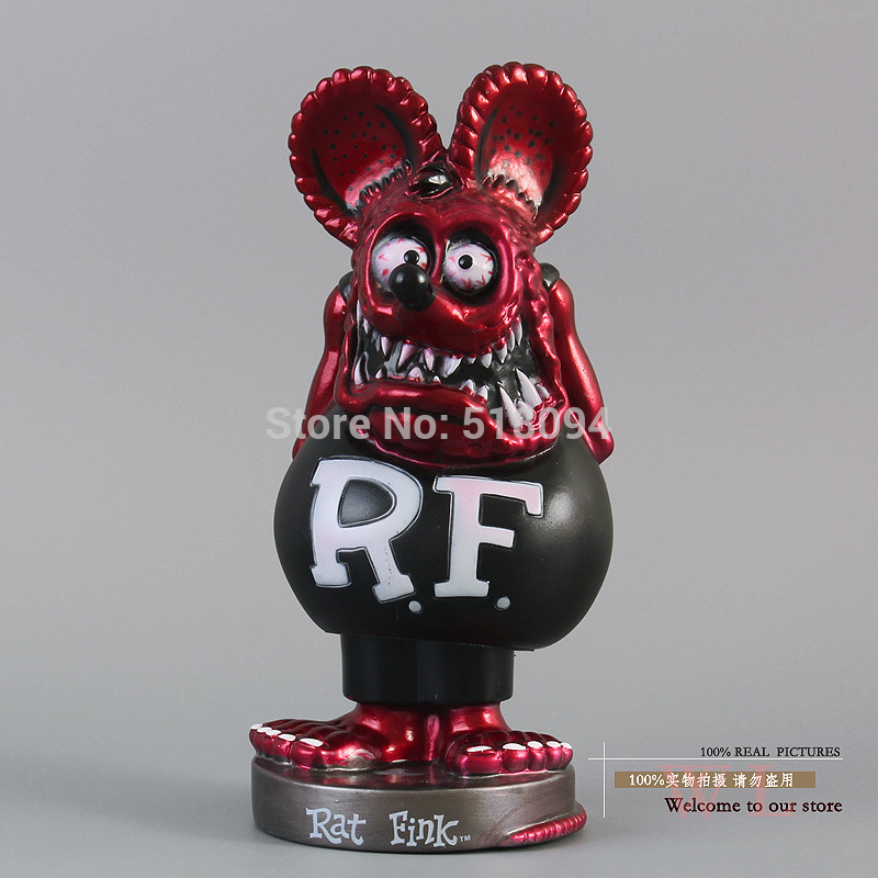 Free Shipping FUNKO Rat Fink Red Bobble Head PVC Action Figure Toy FKFG022<br><br>Aliexpress