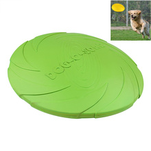 Eco-friendly Large Dog Flyer Natural Rubber Material Pet Dog Frisbee Toy for Dog Training