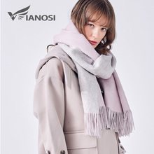 VIANOSI 100% Wool Scarf Women Winter Shawl Thick Warm Scarves Women Cape Brand Foulard Luxury Cachecol Scarfs for Ladies VA226(China)