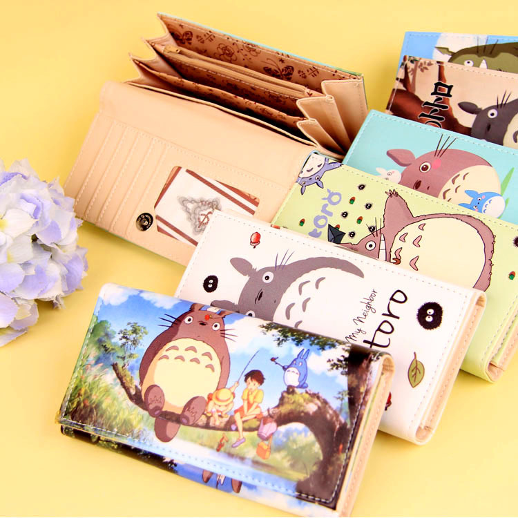 Cartoon My Neighbor Totoro Women Wallets PU Leather Students Wallet Cards Holder Women's Clutch Hasp Coin Purse Money Bags 2