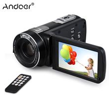 "Andoer HDV-Z80 3"" Touchscreen Digital Video Camera Camcorder 1080 24MP with Wide Angle Lens LED Light Remote Control"