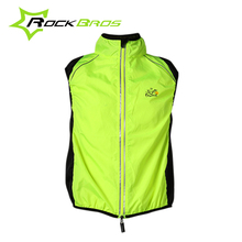 Hot ROCKBROS Bike Cycling Men's Women's Fluorescent Reflective Jerseys Bicycle Cycle Breathable Windcoat Sleeveless Jacket Vest