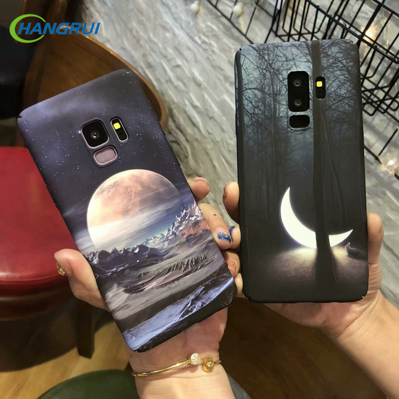 Hangrui Luminous Starry sky Case For Samsung Galaxy Note 8 9 S8Plus Hard PC Back Cases For Samsung S8 S9 Plus S7 ShockProof Case