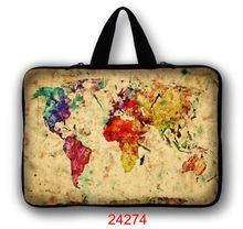 Map 11.6 12 Laptop Notebook Cover Bag For Macbook Air 11 Surface Pro 3 Computer Neoprene Cases Bag For 7 10 12 13 15 17 Mini PC