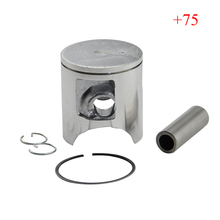 CR125 Piston Kit with Rings Motorcycle Engine Parts Piston Set for CR 125 +75 Cylinder Oversize Bore Size 54.75mm New