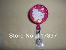 10pcs/lot Hello Kitty Cartoon Retractable Lanyards ID Badge Card Holder For Children & Women Free Shipping