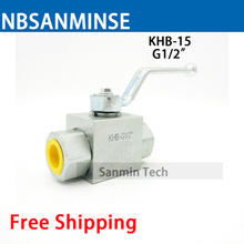 Free Shipping Hydraulic Ball Valve KHB-15 / 25 / 40 / 50 G Type Normal Temperature Standard High Quality On Best Sale Sanmin