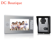 (1 set) 1 to 1 Home using door bell with surveillance camera waterproof door access control Video intercom 7 inch panel
