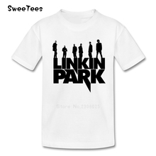 children's T Shirt Linkin Park Chester Bennington Round Neck Rock Band Tshirt Tops boys girls 2017 On Sale T-shirt For kids(China)