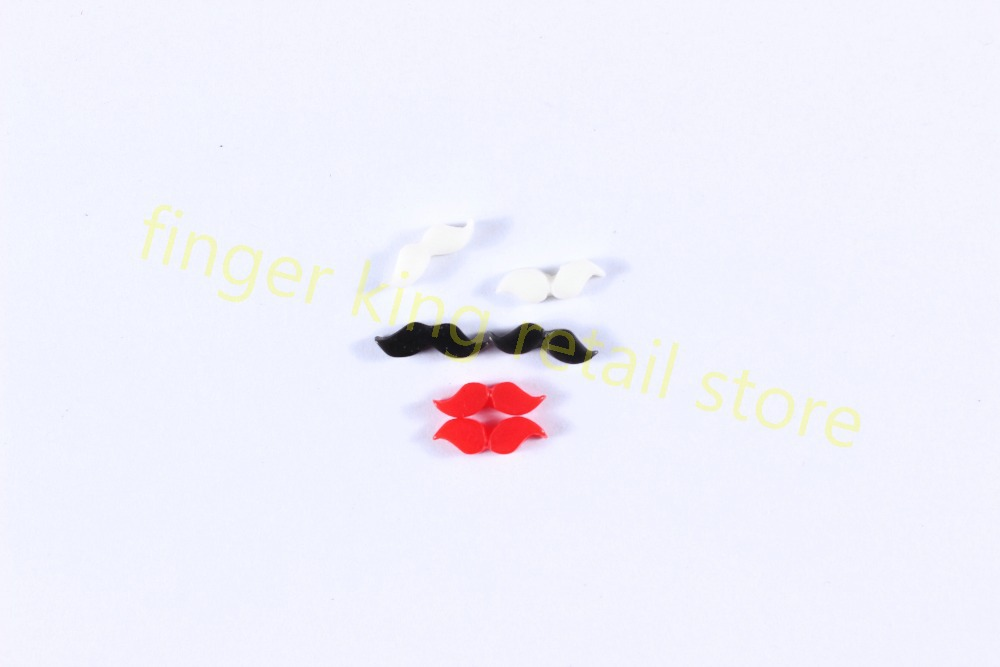 NEW ARRIVAL! Nail Art Decoration 3D Nail Art Sticker Fimo Coulorful Mustache 12 different design nail art Ornament #X175(China (Mainland))