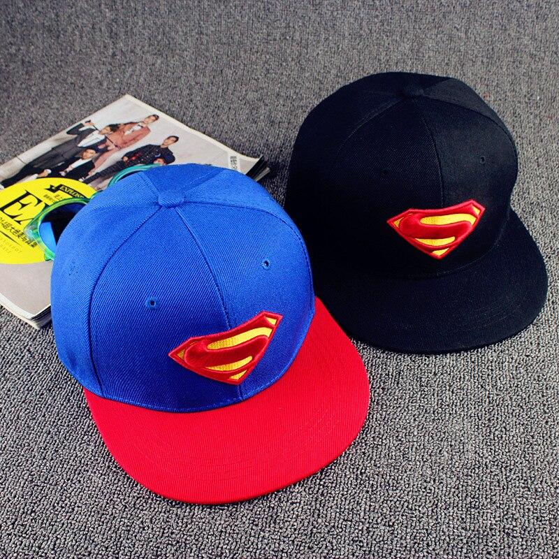 2016 New Fashion Superman Snap Back Snapback Caps Hat Super Man Adjustable Hip Hop Gorras Casual Baseball Cap Hats for Men Women<br><br>Aliexpress
