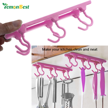 Kitchen Cupboard Hooks Ceiling Hanging Hooks Storage Rack with Traceless Adhesive Glue(China)