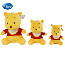 "Disney Winnie the Pooh Doll 10""11.5""15"" inches Plush yellow Bibs Baby Stuffed Toy Kids Preferred doll Toy Bear"