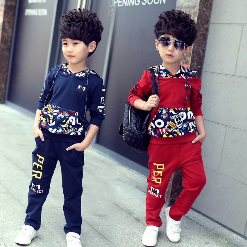 Leisure pullover hoodie + pants, children clothes jumpsuit 2 PC bad boy clothing appropriate for a childrens clothes<br><br>Aliexpress