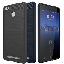 Luxury Silicone Case For Xiaomi Redmi 3S Slim Soft Coque Brushed Phone Back Cover For Xiaomi Redmi 3S 3 Pro Carbon Fiber Texture
