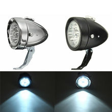 113*82mm 160 Degree Retro Vintage Bicycle Bike Front Light Cycling 6 LED Headlight Mountain Bike Head Fog Lamp With Bracket