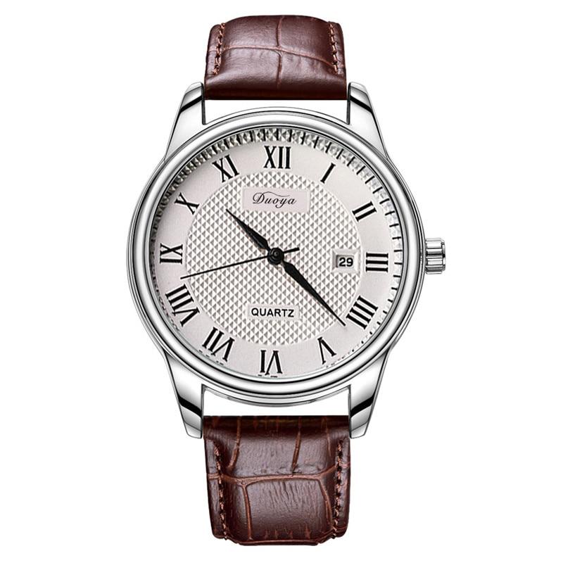 DUOYA Luxury Men Watches PU Leather Classic Analog Quartz Wristwatch Date Roman Numerals Mens Casual Watch Relogio Masculino<br><br>Aliexpress