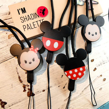 Mr.orange New Mobile Phone Lanyard Fashion Cartoon Mickey Key Lanyard Mobile Keychains Neck Straps Anti-theft Mobile Phone Chain