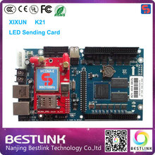 xixun k21 led controller card 320*1200 pixel rgb video control card 3g sending card for p10 led display board outdoor video wall