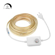 AIMENGTE 1M/5M/10M/15M/20M/25M Dimmable 220V LED Strip Light SMD2835 IP67 Waterproof Silicone Tube for Christmas Indoor Decor(China)