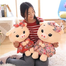 Direct deal kimono pig giant plush doll pig toys for children gift High quality and low price 53cm(China)